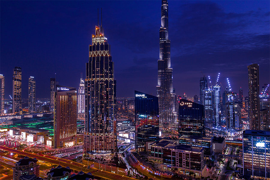 Dubai night landscape