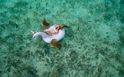 woman in sea paradise