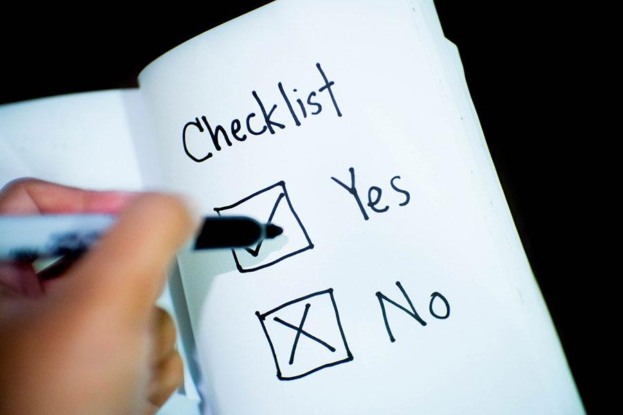 checklist - yes - no